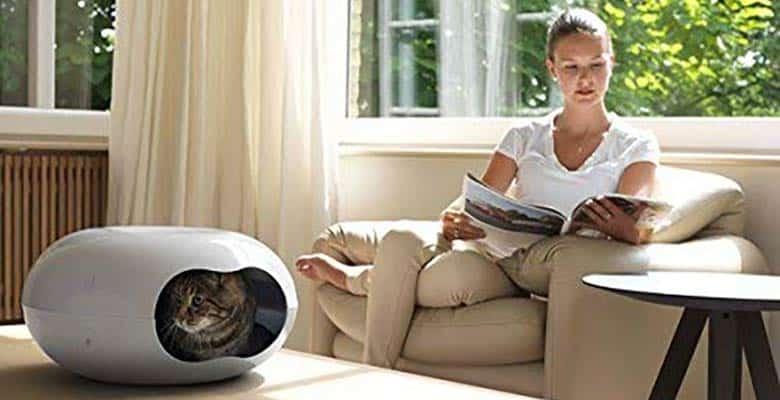 Casa para gatitos con forma ovalada y diseño moderno - Karlie Doonut