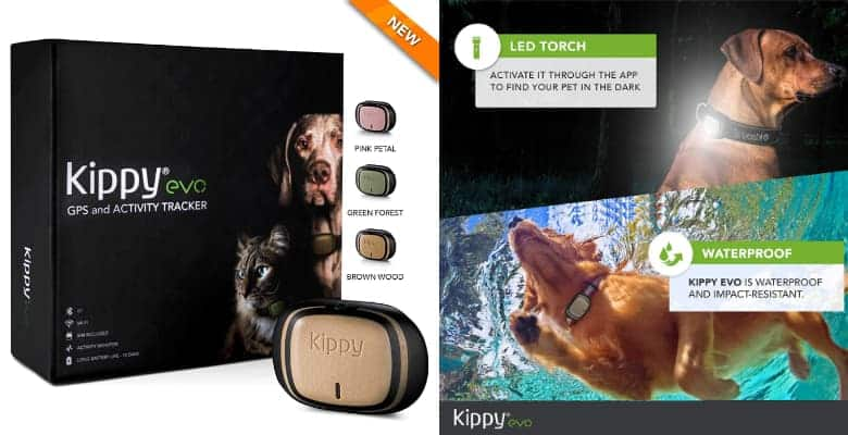 GPS 2 en 1 (localizador y monitor de actividad) para perros y gatos - Kippy EVO