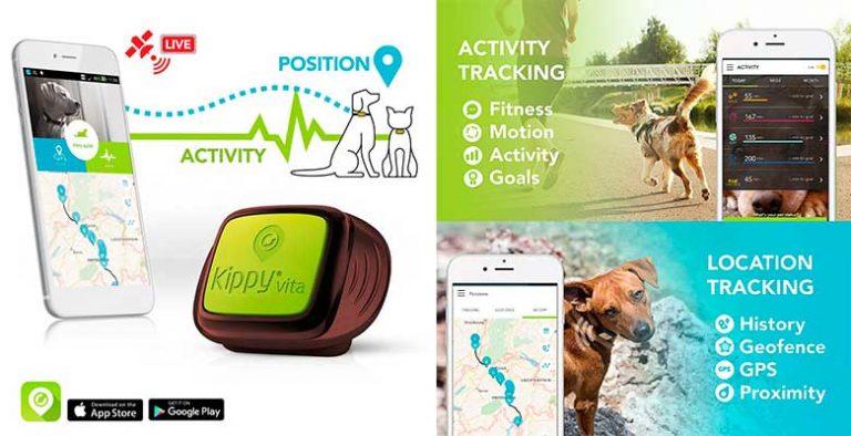GPS 2 en 1 (localizador y monitor de actividad) para perros y gatos - Kippy Vita