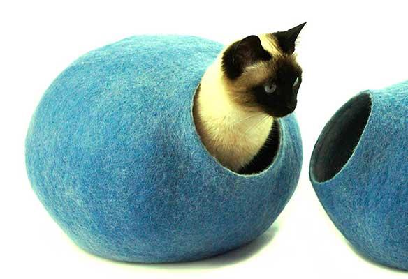 Cama para gatos ecológica y hecha a mano - Kivikis