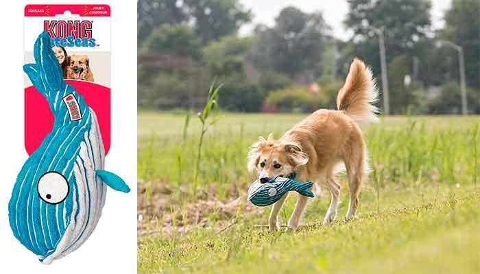 Kong Cuteseas: peluches de pulpo y ballena para perros