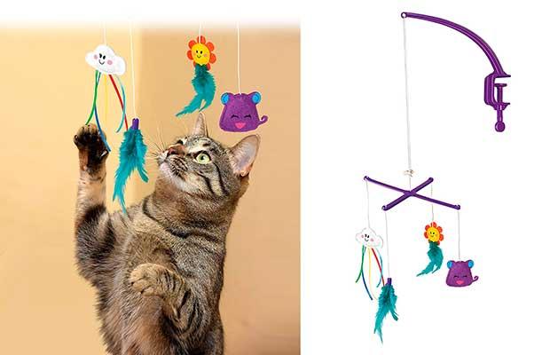 Juguetes colgantes para gatos - Kong Kitty Mobile
