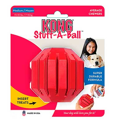 Kong Stuff-A-Ball: pelota interactiva para perros adultos