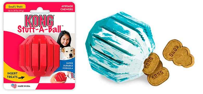 Kong Stuff-A-Ball: pelota interdental interactiva para perros