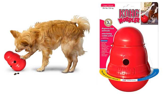 Kong Wobbler: juguete interactivo para perros