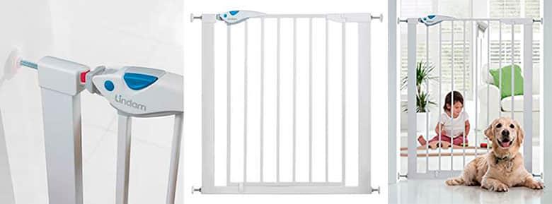 Valla/barrera de seguridad para mascotas y bebés - Lindam