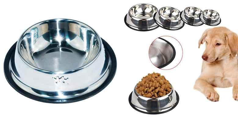 Comedero de acero inoxidable para perros y gatos - Love Pet