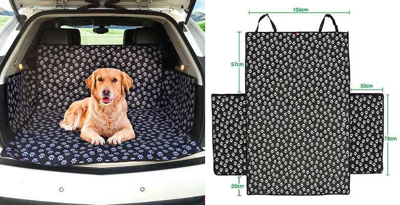 Funda de maletero para perros con diseño de huellas - MATCC