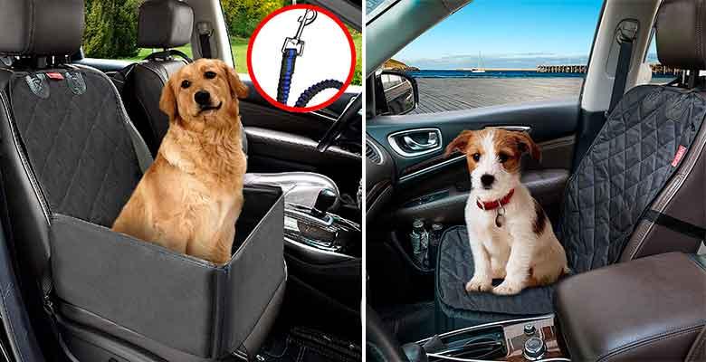 Protector de asiento individual para llevar al perro en el coche - MATTC