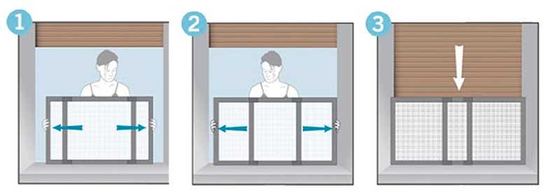 Mosquitera extensible para proteger las ventanas de caídas del gato - Maurer
