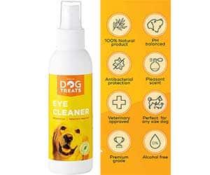 Limpiador ocular en gotas para perros ideal para eliminar legañas - Natural Dog Treats