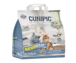 Arena para gatos de pelo corto - natural, ecológica, biodegradable y aglomerante - Cunipic Naturlitter