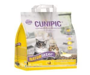 Arena para gatos de pelo largo - biodegradable y ecológica - Cunipic Naturlitter lecho natural