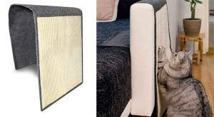 Rascador para gatos - para colocar en el brazo del sofá - Navaris