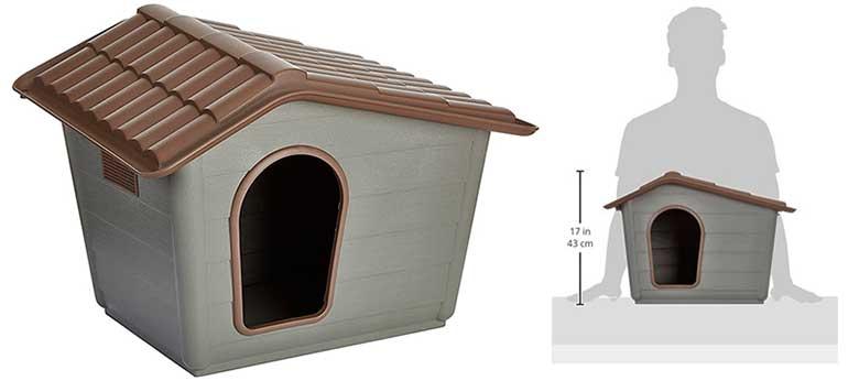 Caseta de plástico para perros de tamaño mini - Nayeco