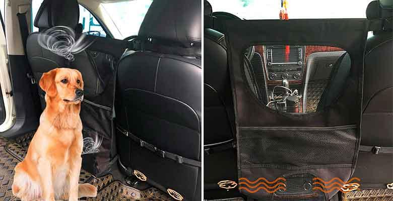 Barrera de seguridad para llevar al perro en el asiento trasero del coche - Newmeil