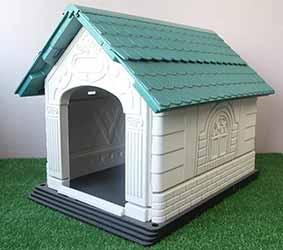 Caseta de polipropileno con diseño original para perros pequeños - Nobleza