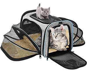 Transportín plegable y extensible para gatos y perros pequeños - OMORC