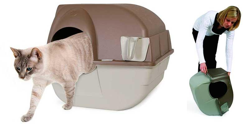 Omega Paw Roll 'n Clean - Arenero autolimpiable para gatos