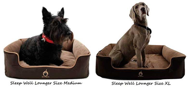 Cama tradicional para perros - Buena relación calidad-precio - On Paws 'Sleep Well Lounger'