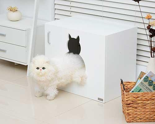 Mueble con arenero oculto para gatos - PawHut