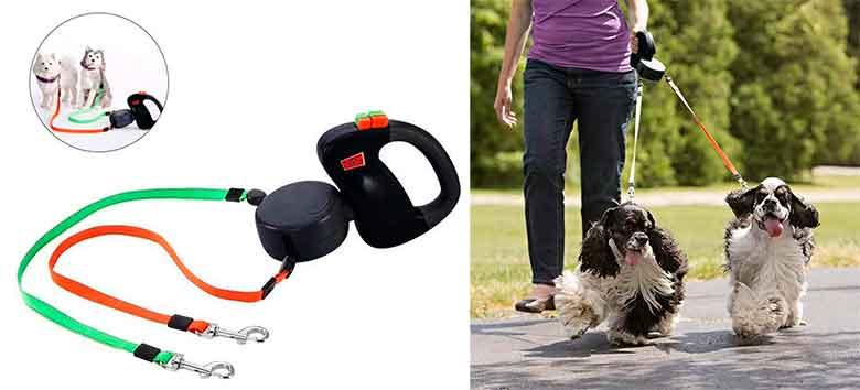 Correa extensible doble para llevar dos perros - Pawaca