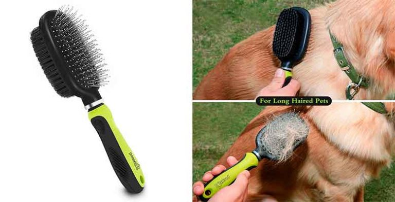 Cepillo de doble cara para perros y gatos - Pecute