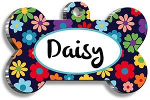 Placas para perros y gatos con diseños coloridos y juveniles - Pet Tag Art