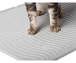 Alfombra de silicona para el arenero del gato - PetFusion ToughGrip