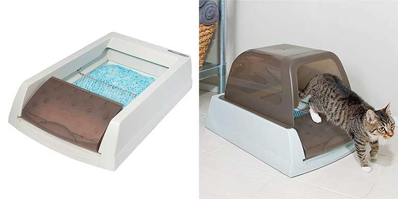 Bandeja sanitaria automática y autolimpiable para gatos - PetSafe ScoopFree