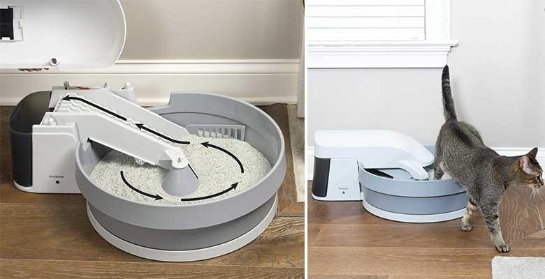 Arenero automático y autolimpiable para usar con arena aglomerante - PetSafe Simply Clean