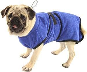 Toalla tipo albornoz para perros - Petcomer