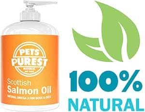 Aceite de salmón escocés para perros y gatos (100% Natural) - Pets Purest