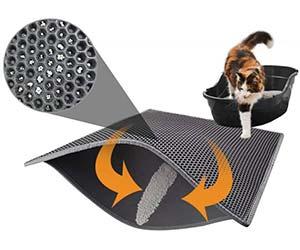 Alfombrilla para gatos autolimpiable (recoge la arena de las patas) - Pieviev