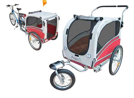Remolque de bicicleta y carro para perros medianos y grandes - Polironeshop Argo