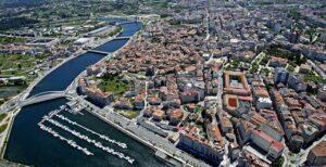 Pontevedra desde el cielo