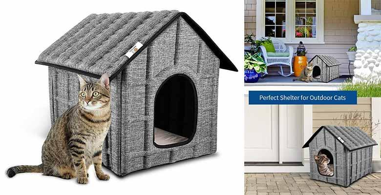 Casita para gatos apta para exterior e interior - PUPPY KITTY