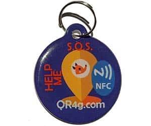 Placa de identificación para perros y gatos con NFC y código QR - AR4G