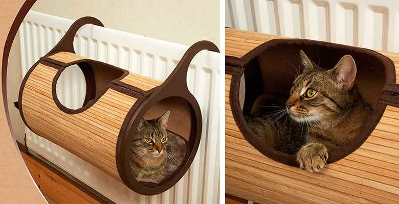 Cama de madera para gatos - para colgar en el radiador - Rosewood Bambú