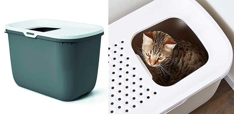 Arenero para gatos con entrada superior - Savic Hop In