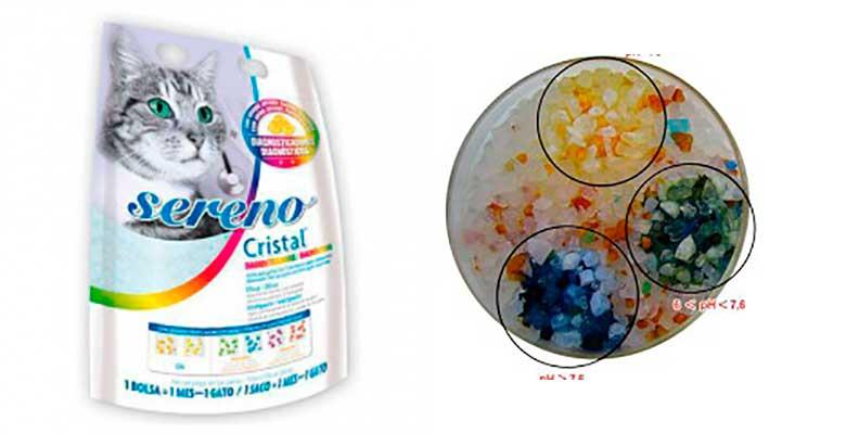 Arena para gatos diagnosticadora de enfermedades urinarias - Sereno Cristal