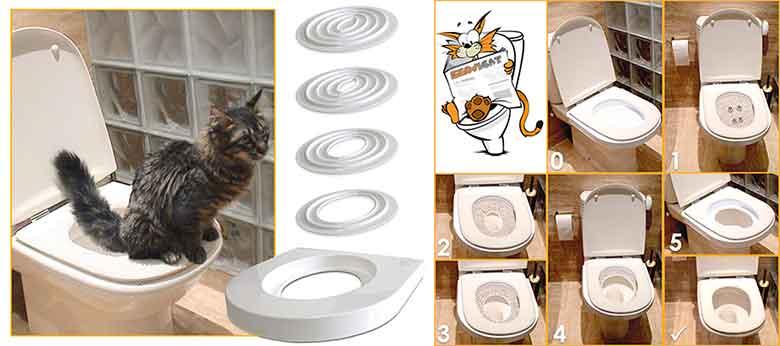 Servicat - Kit para adiestrar a los gatos para usar el WC