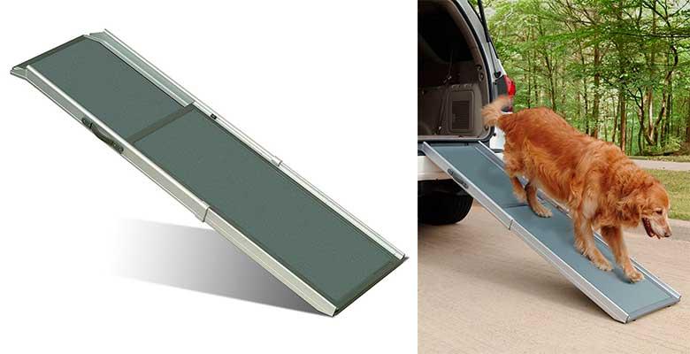 Rampa telescópica de aluminio para ayudar al perro a subir al coche - PetSafe Solvit Deluxe