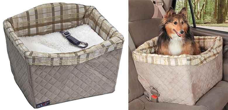 Asiento elevador de gran calidad para llevar al perro en coche - Solvit Jumbo Deluxe