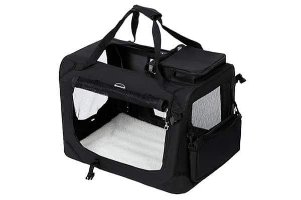 Transportín plegable de tela para perros y gatos - Songmics