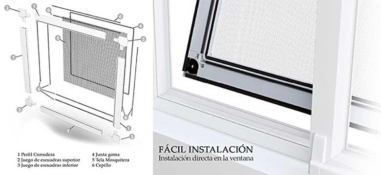 Mosquitera para ventanas correderas - Segura para gatos - Intermas