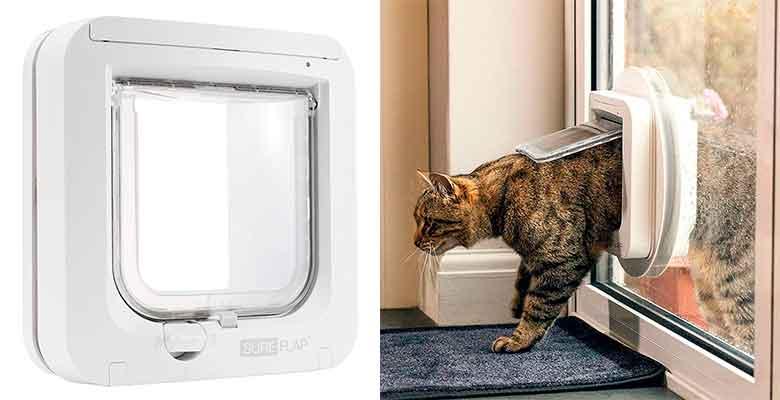 Gatera SureFlap - Puerta para perros y gatos con microchip