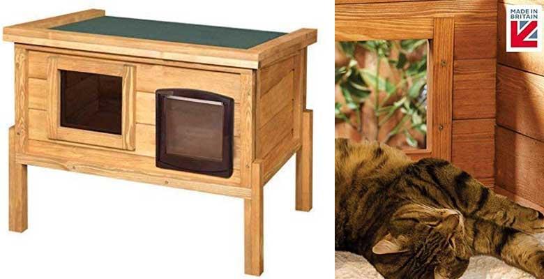 Caseta para perros exterior, de madera y elevada - The Hutch Company