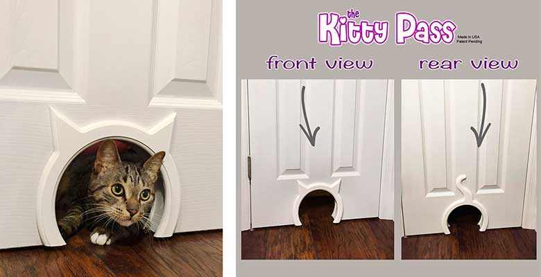 Puerta para gatos especial para interiores - The Kitty Pass
