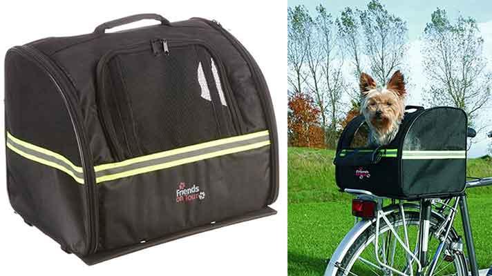 Transportín de bici barato para perros - Trixie Biker-Bag